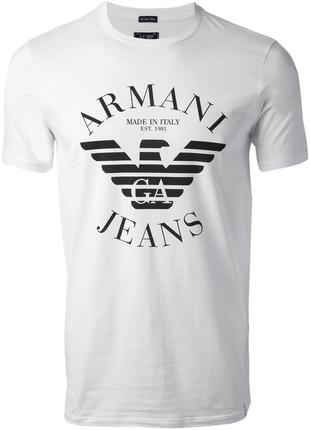 Модная футболка на лето дорогой итальянский бренд большое лого...