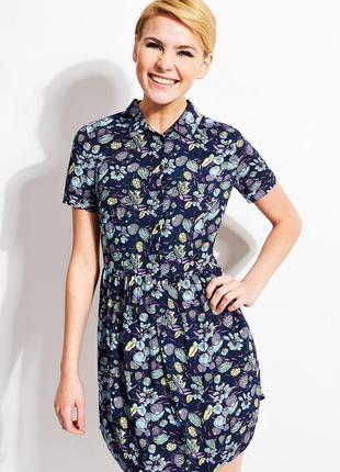 Трендовое вискозное платье рубашка пуговицы оверсайз от befree