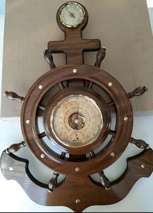 Барометр КРЭТ (Утес) якорь-штурвал с гигрометром