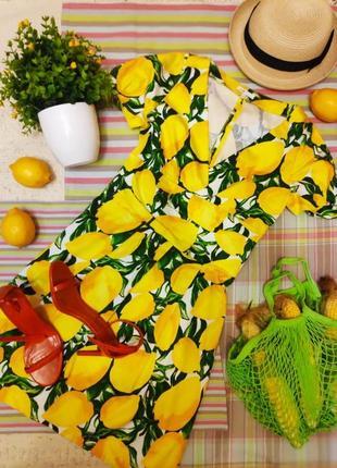 Сочное летнее платье в лимоны от оджи