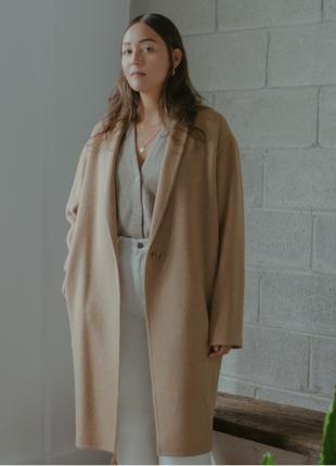 Прекраснейшее пальто без подкладки оверсайз uniqlo !!!