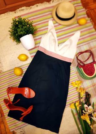 Сексуальное платье сарафан декольте в морском стиле