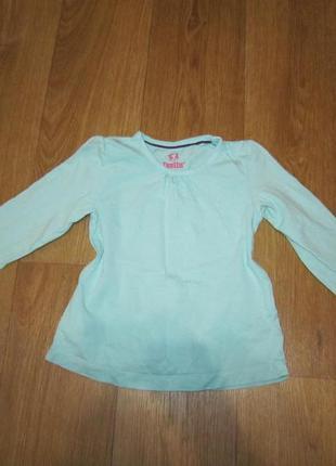 Реглан, футболка с длинным рукавом lupilu на 2-4 года
