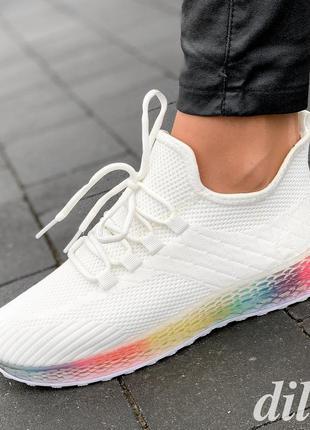 Кроссовки женские белые летние весенние модные - жіночі кросів...