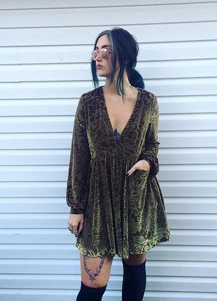 Бархатное платье в стиле бохо