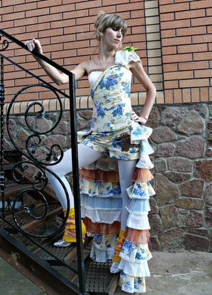 Карнавальний комплект корсет, шорти і спідниця