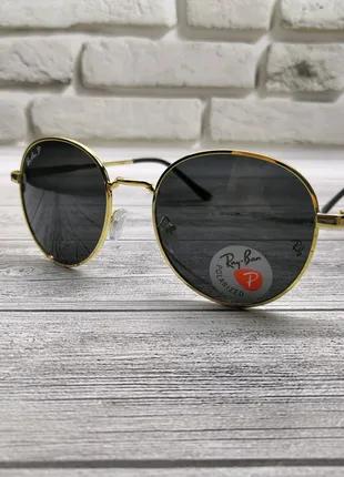 Крутяцкие очки Ray Ban(оправа в золоте)