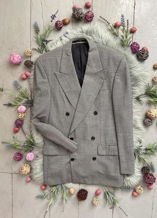 Актуальный шерстяной двубортный пиджак №42