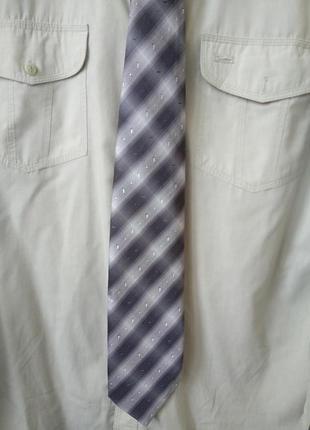 Классический галстук краватка в нейтральных серых тонах подарок
