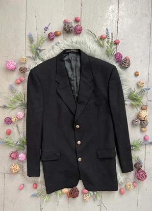 Актуальный винтажный шерстяной  пиджак №42