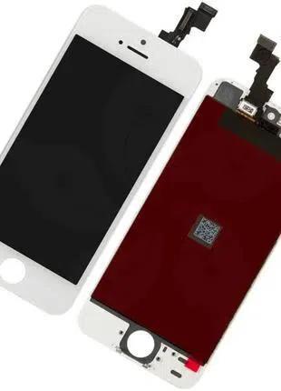 Дисплей Apple iPhone 5S с сенсором (тачскрином) белый