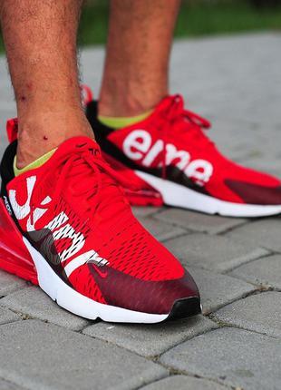Nike air max 270 red supreme ♦ мужские кроссовки ♦ весна лето ...