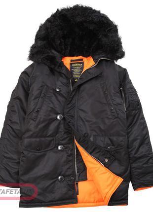Куртка аляска Slim Fit N-3B Parka Alpha Industries (чорна)