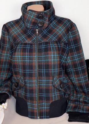 Демисезонное пальто полупальто куртка на молнии с карманами в ...