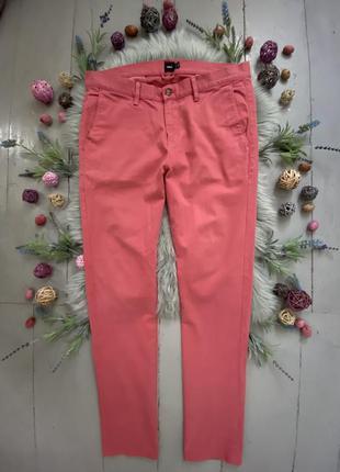 Актуальные яркие летние зауженные брюки чинос высокий рост №345