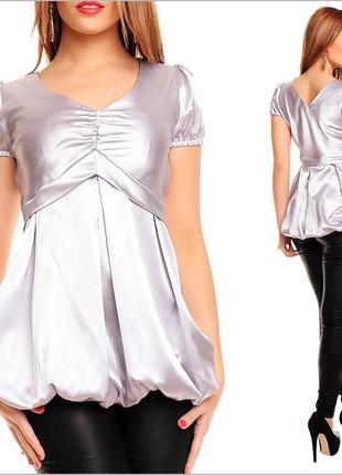 Серебряная женская футболка