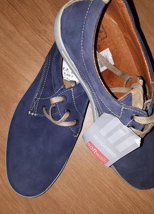 Кожаные мужские туфли softwalk(испания)