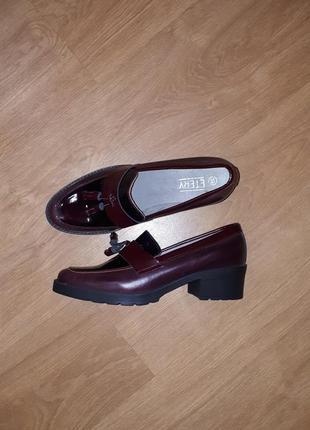 Стильные кожаные туфли etery(испания)36,38