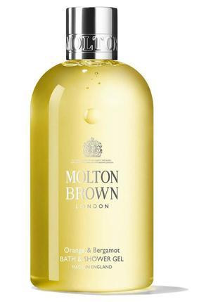 Molton brown orange & bergamot гель для ванны и душа «апельсин...