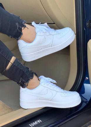 Nike air force 1 classic white 🔺женские кроссовки найк еир фор...