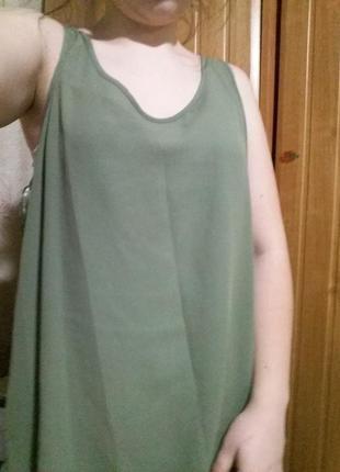 Шифоновая блуза цвета хаки