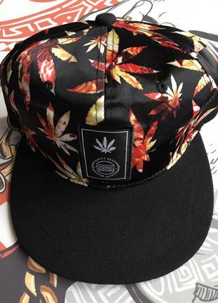 Легкая кепка бейсболка с травой snapback хип хоп стиль