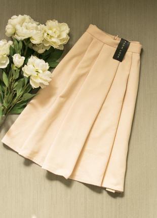 Стильная пудровая юбочка new look