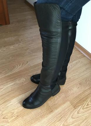 Красивые кожаные сапоги ботфорты hammer польша.
