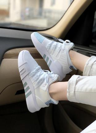 Adidas equipment bask adv white🔺женские  кроссовки адидас белые