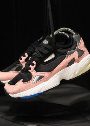 Adidas falcon 🔺женские кроссовки адидас фелкон розовые с черным