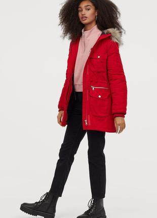 Яркая стильная модная куртка парка от h&m новая коллекция весн...
