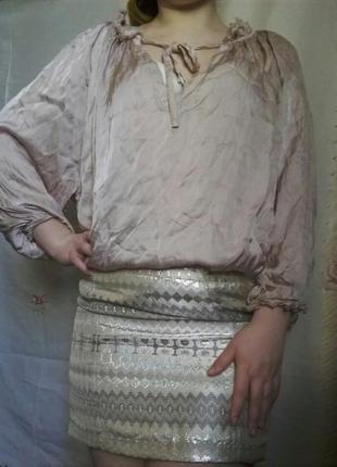 Блуза с шелком на все размеры с биркой
