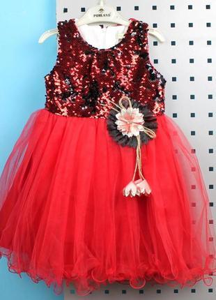 Платье для девочка в паетках-перевертышах