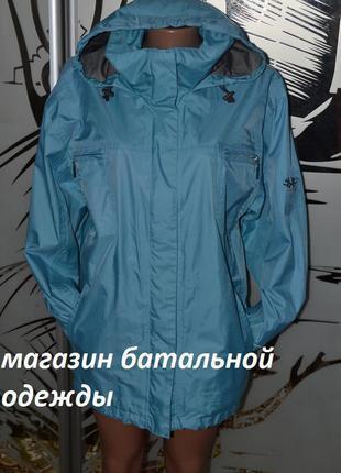 Плотная водонепроницаемая куртка ветровка двойная молния