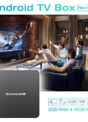 Смарт Tv Box Sunvell H3 2/16GB Android 7.1.2