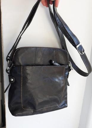Кожаная сумка кроссбоди my lady.