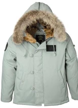 Пухова куртка аляска N-2B Elevon Alpha Industries (alaska green)