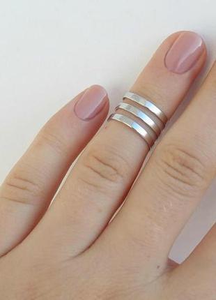 Кольцо серебро 925 на фалангу пружинка 1558