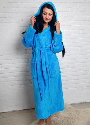 Качественный уютный мягенький махровый халат женский
