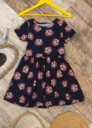 Платье для девочки трикотажное летнее
