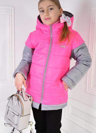 Куртка для девочки, детская куртка-жилетка
