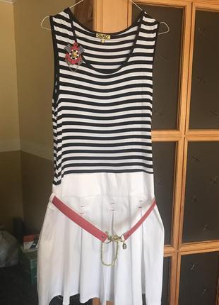 Платье супер в морском стиле