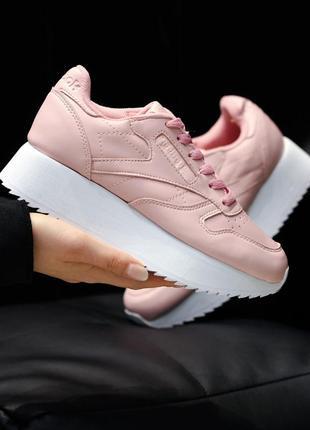 Reebok classic platform pink ♦ женские кроссовки ♦ весна лето ...