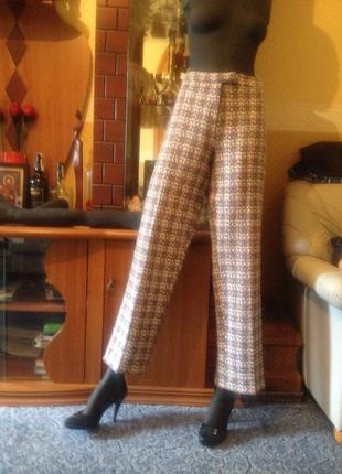 Тренд-очень модная в этом сезоне клетка- брюки зимние буклиров...