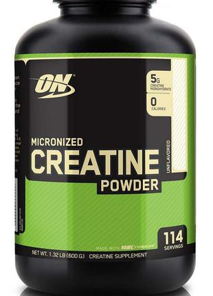 Optimum Nutrition Creatine Powder 600g креатин моногидрат USA
