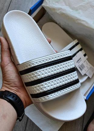 Adidas flip-flops adilette black ♦ мужские шлепки ♦ весна лето