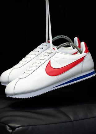 Nike classic cortez 🔺мужские кроссовки найк кортез белые
