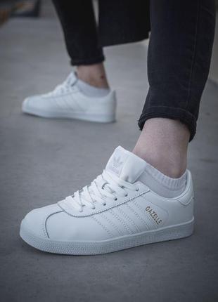Adidas gazelle🔺женские  кроссовки адидас газели белые