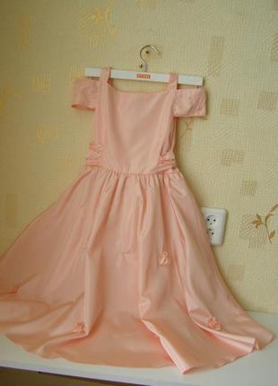 Fulden kids нарядное платье для девочки 6-7 лет. турция
