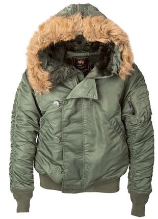 Куртка аляска N-2B Parka Alpha Industries (оливкова)